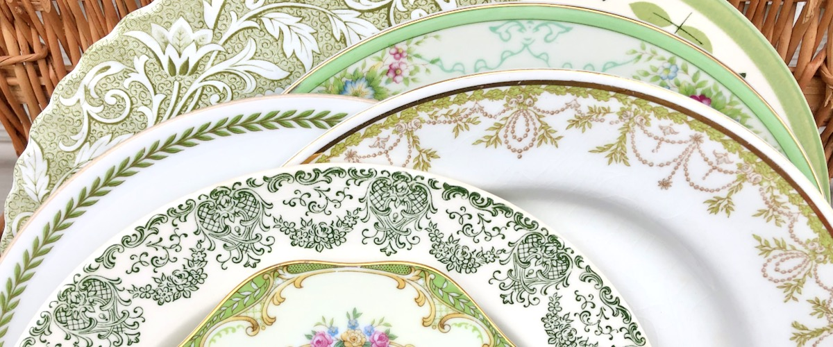 Vintage Green Plates
