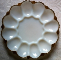 Vintage Milk Glass Egg Tray