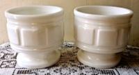 Vintage Milk Glass Compotes