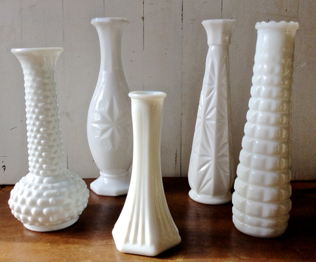 Milk Glass Vase Rental NC