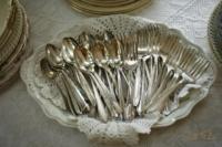 Vintage Flatware on Buffet