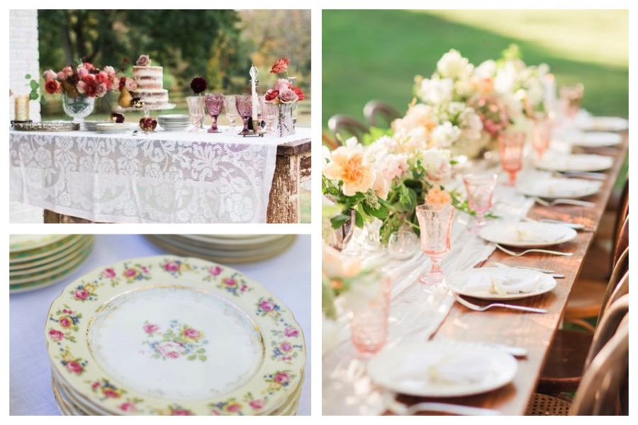 Southern Vintage Table Vintage China Rental