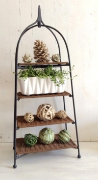 Vintage Tiered Rattan Stand