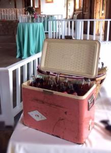 Vintage Pink Enameled Cooler