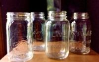 Vintage Clear Mason Jars