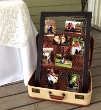 Vintage Suitcase Photo Display
