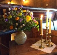 Vintage Candles on Vintage Doily