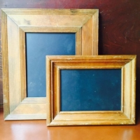 Set of Small Gold Blackboard Frames