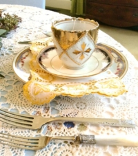 Vintage Flatware with Teacup