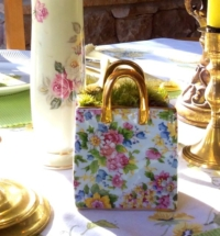 Vintage Ceramic Purse in Centerpiece