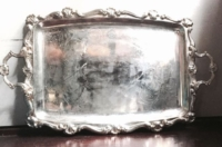 Vintage Large Silver-plate Tray