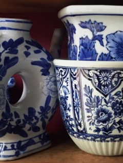 Vintage Blue and White Vases