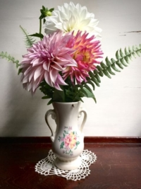 Vintage Vase with Bouquet