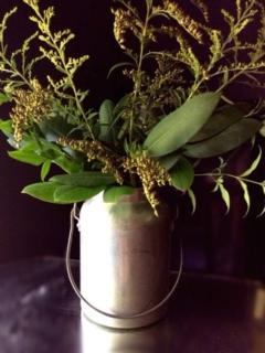 Vintage Metal Can Vase