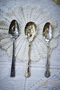 Vintage Flatware on Doily