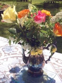Vintage Silverplate Teapot Vase