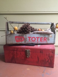 Vintage Red and Open Tool Boxes