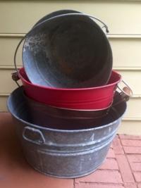Vintage Galvanized Tubs