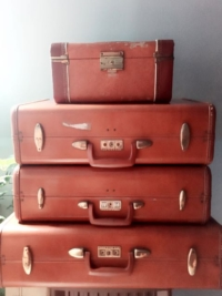 Vintage Brown Suitcases