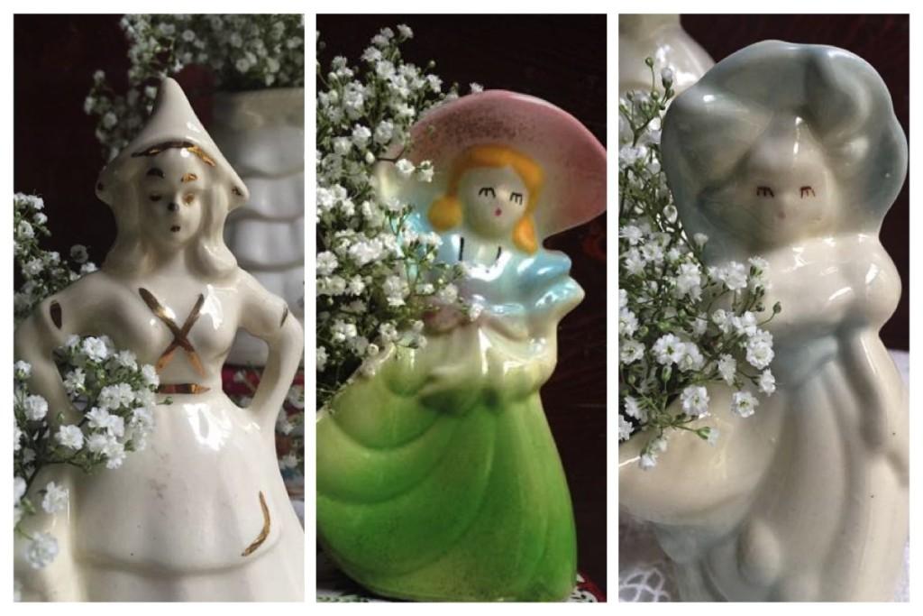 Vintage Girl Vases
