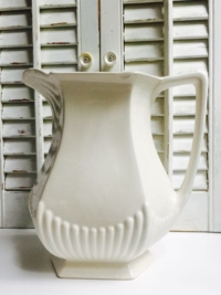 Vintage White Stoneware Pitcher