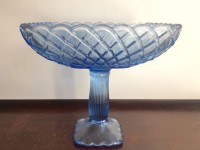 Vintage Glass Blue Compote