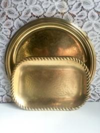 Vintage Brass Trays