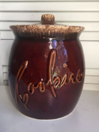 Vintage Brown Cookie Jar