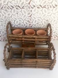 Vintage Divided Twig Baskets