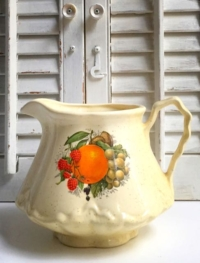 Vintage Fruit Ceramic Pitcher