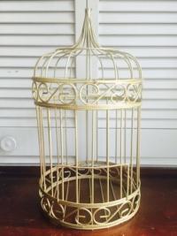 Vintage Gold Bird Cage
