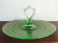 Vintage Green Handled Tray