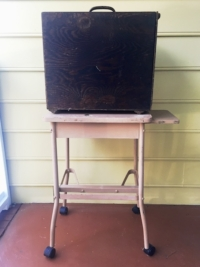 Vintage Typewriter Table with Projector Box