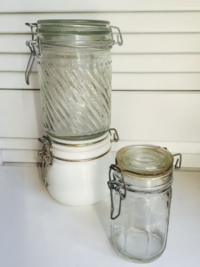 Vintage Jars with Wired Lid