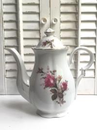 Vintage Moss Rose Teapot