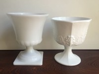 Vintage Milk Glass Compotes-2