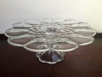 Vintage Petal Glass Cake Stand