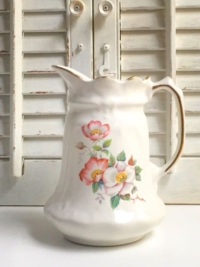 Pink Floral Ceramic Pitcher