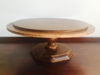 Vintage Round Wooded Cake Stand