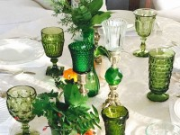 Green Vintage Goblets