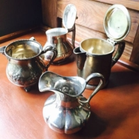 Vintage Silverplate Creamers and Sugars