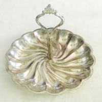 Vintage Silverplate Handled Tray