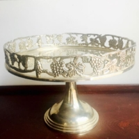 Vintage Silverplate Cake Stand