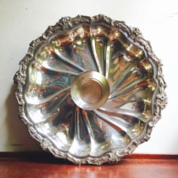 Vintage Silverplate Chip and Dip Tray