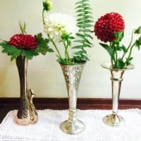 Vintage Silverplate Bud Vases