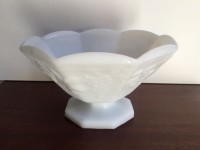 Vintage Milk Glass Compote