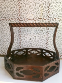 Vintage Wooden Tray/Basket