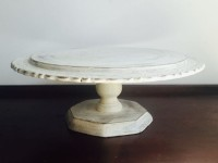 Vintage White Distressed Cake Stand