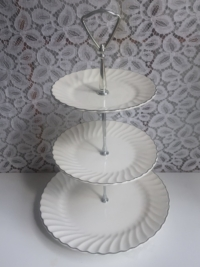 Vintage White Tiered Stand