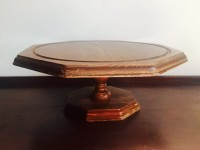 Vintage Wooden 6-Sided Cake Stand